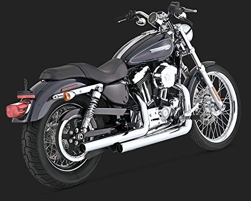 RPM Vance & Hines Compatible with Chrome Straightshots Straight Shots Exhaust 04-13 Harley Sportster