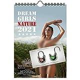 Sexy Nature Girls DIN A5 Kalender für 2021 Erotik Wald Natur - Geschenkset Inhalt: 1x Kalender, 1x Weihnachts- und 1x Grußkarte (insgesamt 3 Teile)