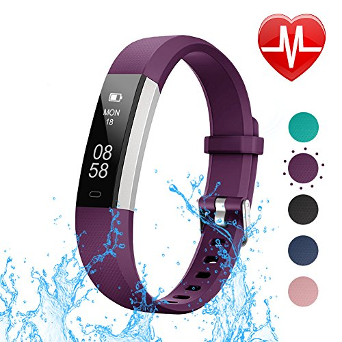 LETSCOM Fitness Tracker with Heart Rate Monitor, Slim Sports Activity Tracker Watch,...