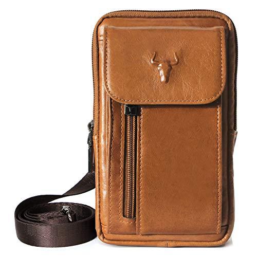 Taktische Schutzhülle für iPhone 7 Plus, Leder, Kuriertasche, Reisetasche