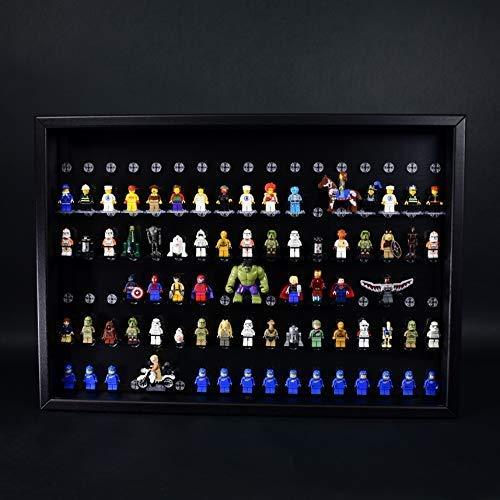 FiguCase Click System Vitrine 50 x 70 für 102 eure Lego® Figuren schwarz schwarz