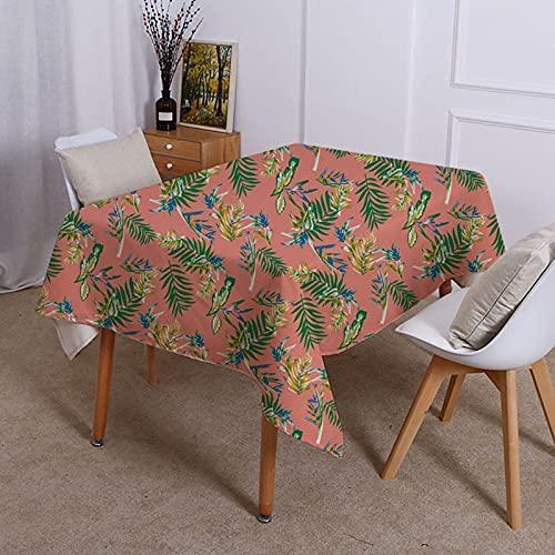 XXDD Mantel geométrico con patrón de Plantas Tropicales decoración de Estilo hogareño Moderno Mantel Impermeable de Lujo Ligero A4 150x210cm