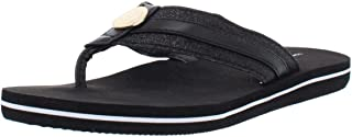 cfa4cc37b Tommy Hilfiger Womens Capes Glitter Thong Flip-Flops Black 7 Medium (B