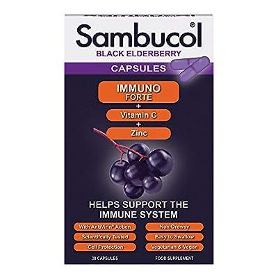 Sambucol Natural Black Elderberry Immuno Forte Capsules, 30 each