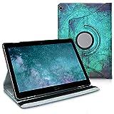 kwmobile Carcasa Compatible con Huawei MediaPad M3 Lite 10 - Funda de Cuero sintético para Tablet Ancla y Mapa Blanco/Azul