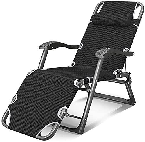 Sedie pieghevoli reclinabili per esterni, sedia a sdraio reclinabile, resistente, a gravità zero, sedie da spiaggia reclinabili, relax in comfort e stile, tubo piatto C (colore : tubo piatto C)