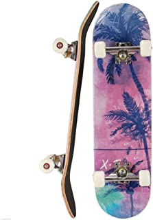 WZHESS 9 Layer Canadian Maple Wood Concave Skateboard Complete Skateboards, 31 inch Pro Skateboard for Boys/Girls/Kids/Youth/Adults,Skate Board for Beginners,A