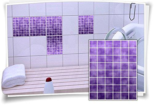 Tegelsticker, tegelafbeelding, tegels, tegelstickers, tegelstickers, mozaïekviolet 15x20cm