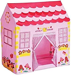 Kid Play House Tent,Playhouse Girl City House Kids Secret Garden Pink Play Tent