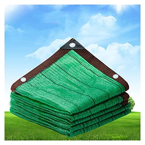 LSSB Malla De Sombreo HDPE Valla De Privacidad De Jardín Temperatura Gota Solar Sombra Paño para Plantas De Sombra Alféizar De La Ventana Cochera, Personalizable (Color : Green, Size : 4X5M)