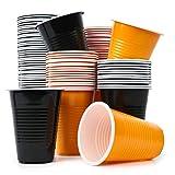 THE TWIDDLERS 100 Desechables Vasos Grandes Estilo Halloween - 50 Naranjas y 50 Negros Fiestas, Juegos, Beer Pong - Barbacoas