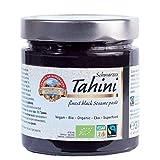 Tahini negro Bio 310g Orgánico, Pasta Crema hecho solo de Sésamo Ecologico integral con cáscara,...