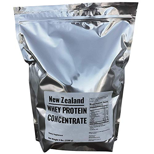 New Zealand Whey Protein - 5 lbs - 100% Grass Fed, Non-GMO, No Soy, Imported Directly from New Zealand, 75 Servings
