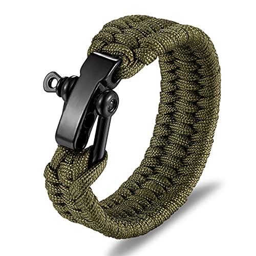 HUANGDANSEN Bracelet Men Multi Function Survival Bracelet Outdoor Camping Rescue Emergency Rope Bracelets with Knife For Women|Charm Bracelets|