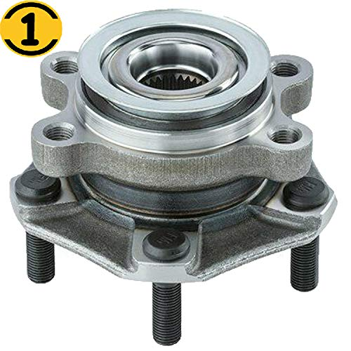 Front Wheel Bearing Hub Assembly Fit 2015 2016 2017 2018 Chevrolet City Express, 2013-2017 Nissan Leaf, 2013-2018 Nissan NV200, 2013-2019 Nissan Sentra Hub Bearing w/5 Lugs, Replace 513364