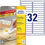 Avery Removable Labels 96 x 16,9mm (25) - Etiquetas de impresora (96 x 16, 9mm)