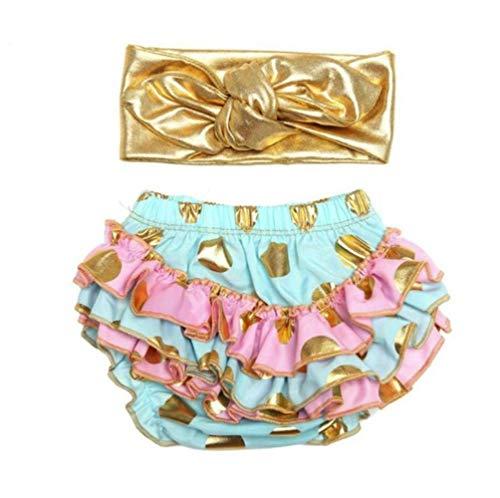 micia luxury(ミシアラグジュアリー) ベビーおむつカバー&ヘアバンド ケーキスマッシュ ハーフバースデー 誕生日 ギフト 6month ミント×ピンク