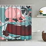 girlsight Dekor Duschvorhang Buntes Design, Stoff Badezimmer Dekor Set mit Haken 180x200cm, Multi 365.de adentro, Arte, arte Moderno, arte Wandgemälde
