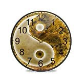 Símbolo de Yin Yang Reloj de Pared Cuarzo Analógico Tranquilo Cocina Sin tictac Reloj de...