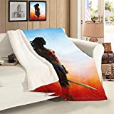 VICWOWONE Manta de terciopelo de cordero de la Mujer Maravilla para regalo de cumpleaños para niños, decoración de sofá, dormitorio, tamaño de la manta de 50 x 70 pulgadas