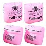 YMLHOME Swim Arm Bands Inflatable Swimming Arm Float Rings Floater Sleeves Roll Up Arm Floaties for Kids and Adults, Pack of 4 (Pink)