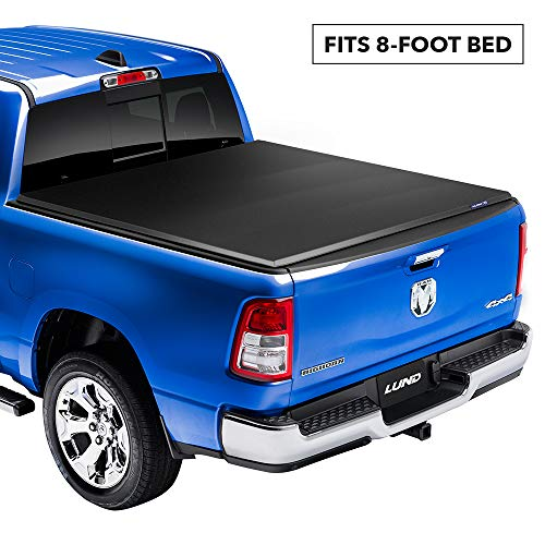 Lund Genesis Elite Tri-Fold, Soft Folding Truck Bed Tonneau Cover | 95894 | Fits 2007 - 2013 GMC/Chevy Sierra/Silverado 8' 2' Bed (97.6')