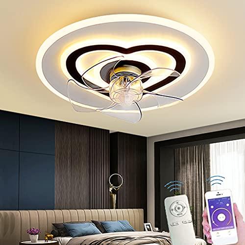 Ventiladores De Techo Modernos LED Con Iluminación Dormitorio Sala De Estar Ventilador Regulable Lámpara De Techo Con Control Remoto Ventilador Ultra Silencioso Velocidad Del Viento Ajustable (B)