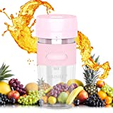 Portable Charging Blender Personal Juicer With USB Rechargeable, Smoothie Maker Juicer Magnetic Charging Plug Smoothie Blender Cordless Small Juicer Cup Mixer,260ml,Outdoor Travel Office BPA