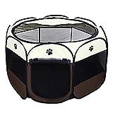 DZL- Parque para Perros Grandes Tienda de Campaña Plegable para Mascotas Playpen Perro Gato Cachorros Portátil Plegable (91 * 91 * 58CM)