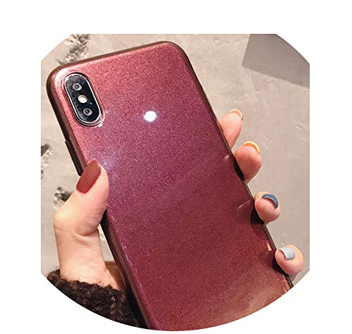Hepu for X Mobile Phone Shell Simple Solid Color 7 / 8plus Ultra-Thin 6s Rust red Wine 7P Soft Silicone Tide,tiexiuhongruanke,for 7 8