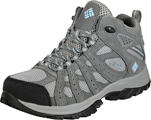 Columbia Canyon Point Mid, Zapatos de Senderismo Impermeables Mujer, Gris (Light Grey, Oxygen), 38 EU