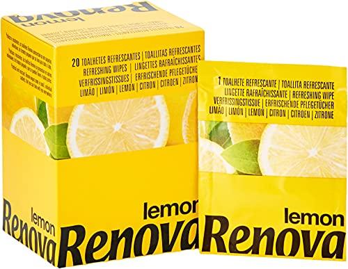 Renova Toallitas Refrescantes de Limón, 20 Toallitas