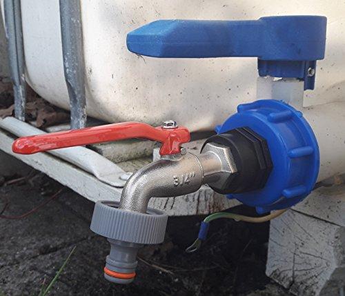 CMS60133MK99 Auslauf Kugelhahn mit Stecker passend für Gardena, IBC-Container-Zubehör-Regenwasser-Tank-Adapter-Fitting-Kanister