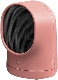 QAQ Mini Smart Calefactor Cerámica Escritorio Sala De Estar Dormitorio Oficina 500W,Pink,158 * 150mm