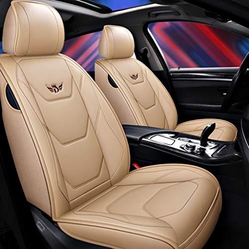 Coprisedile universale auto Coprisedile for auto universale set completo protezione in pelle PU for cuscino for seggiolino auto for Audi A3 / a4 / a5 / a6 / A8 / q3 / q5 / RS4 (Colore : Beige)