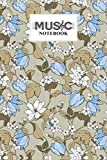 Music Notebook: Flowers Magnolia and Tulips Music Notebook, Music Writing Notebook | Blank Sheet Music Notebook, 120 Pages, Size 6