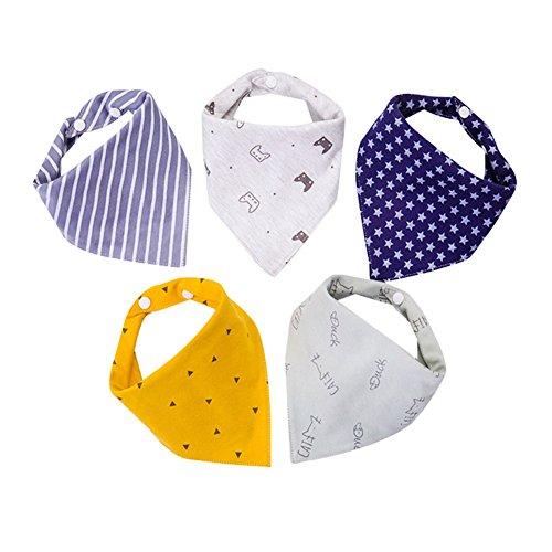 BBM 5pcs Baberos Bebe Moda Baberos Bandanas Recién Nacido Bufandas de Algodón Diseño de Animales para Bebés y Niños El grosor es Adecudo 100% Algodón Costumbre Privada Para bebé