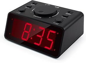 ساعات رقمية لغرفة النوم وجانب السرير مع 3 سطوع قابل للتعديل، ساعة منبه كهربائية بسيطة شاشة كبيرة مع سنوز، تعمل بالبطارية