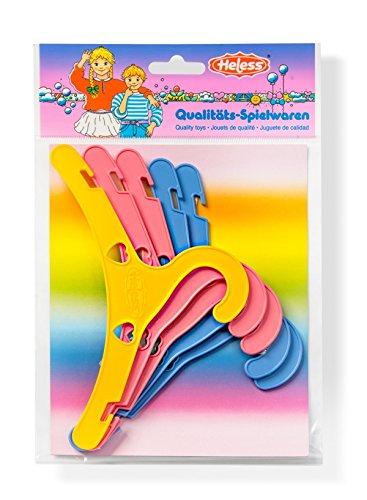 Heless 778 Puppenkleiderbügel, 5 Stück, Bunte