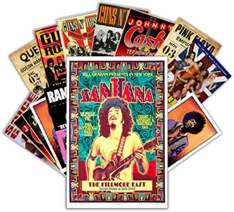 HK Studio Vintage Posters of Music Band Self Adhesive Vinyl Decal Indie Posters for Room Aesthetic product image