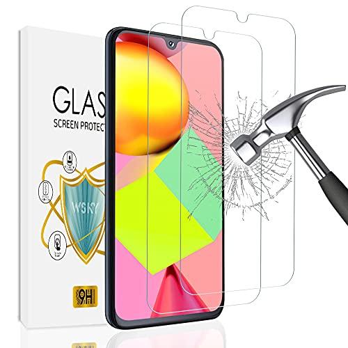 wsky [2 Stück] Panzerglas Schutzfolie für Samsung Galaxy A40, HD Gehärtetem Glas Displayschutzfolie, 9H Härte, Anti-Bläschen, Anti-Kratzen, Einfache Installation Schutzfolie für Samsung A40