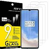 NEW'C 3 Stück, Schutzfolie Panzerglas für OnePlus 7T, Frei von Kratzern, 9H Festigkeit, HD Bildschirmschutzfolie, 0.33mm Ultra-klar, Ultrawiderstandsfähig