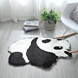 TTLLTL Tapis Laine Imitation Dessin Animé Panda Enfant Rampant Tapis en Peluche Salon Chambre Tapis De Chevet,Koala
