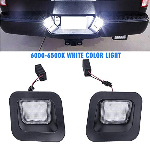 ChengShun 2 License Plate Lights Led Lights 12V License Plate Led White - voor Dodge Ram 1500 2500 3500 (2003-2018)