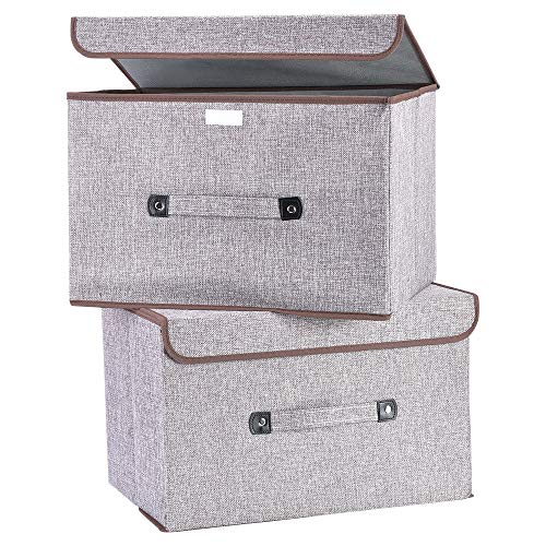 U. Uberlux 3 x Aufbewahrungsbox, Aufbewahrungstasche, Kiste aus Baumwolle für Spielzeug, Bücher, Elektrogeräte, Faltbare Box