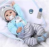 ZIYIUI Reborn Baby Puppe Junge 22 Zoll 55cm Lebensecht Weiches Silikon Vinyl Realistisch Handgemachte Reborn Baby Junge Beste Geburtstagsgeschenke Reborn Toddler