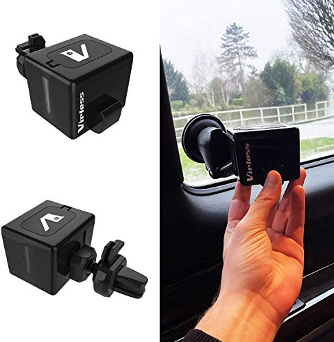 VIRLESS Hand Sanitizer Dispenser for Car with Holder – Hand Sanitizing Car Accessory for Women and Men – Easy to Refill Dispenser Car Essential (80 ml)