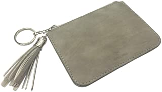 Skyflying Artificial Leather Slim Credit Card Pocket with Key Ring and ID Window