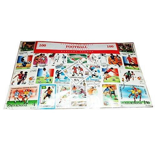My London Souvenirs Weltweit Fußball/Sport, Briefmarkensammlung, Souvenir, 100verschiedene Briefmarken, Souvenir, Briefmarken-Sammlerstücke, Briefmarken zum Sammeln aus der ganzen Welt, keine doppelten! Briefmarken