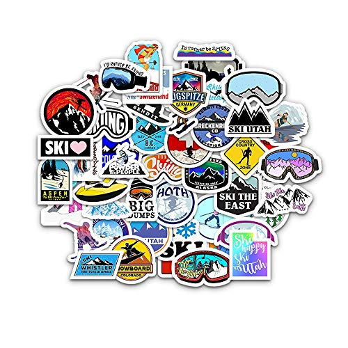 Outdoor Surf Stickers Extreme Sport Ski Waterproof Stickers DIY Laptop Surfboard Car Skateboard Stickers Doodle 50Pcs